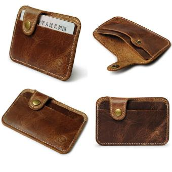 Harga Fashion Money Clip Slim Credit Card ID Holder Wallet Money Cash Holder brownfree shipping - intl