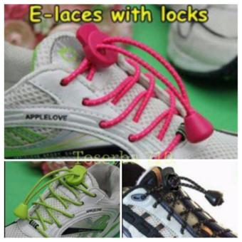 Tali Sepatu Praktis Elastis Shoe Lock Lace Laces No Tie Elastic Shoelaces With .