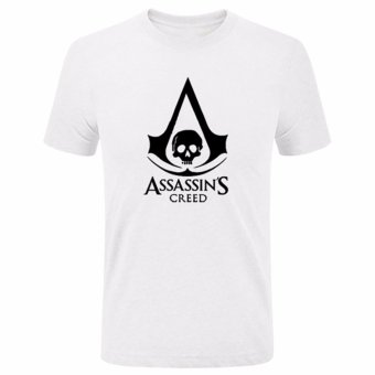 Harga Hequ Summer New Anime Game Assassin's Creed Printed T Shirt Short Sleeve Gamer Men T-Shirt  White - intl