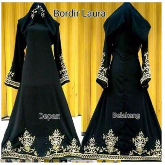Harga Dress Muslim Abaya Arab Bordir Laura