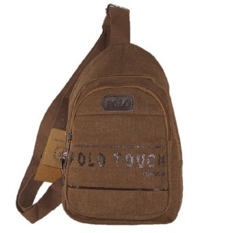 Harga Polo Touch Sling Back Pack Canvass - Cokelat