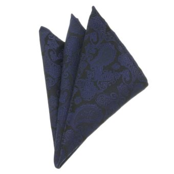 Harga EOZY Men's Elegant Business Pocket Square Fashion Paisley Design Pocket Square – Navy