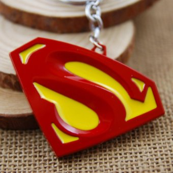 Harga 1pcs Movie Key Chain Superman Red Color Logo Keychain Men Gift Key Chain Key Holder - intl