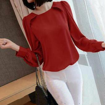 Harga Grateful Blouse Defani - Maroon