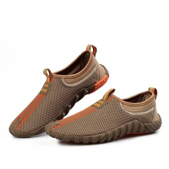 Fashion Sports hardly breathe the man her kets soft and datar Coklat 5 .