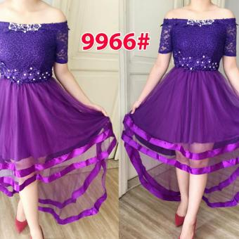 Harga Grosir Dress-9966 Purple