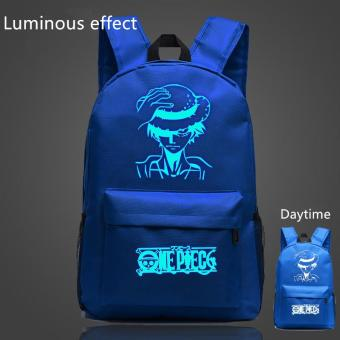 Harga Blue Anime One Piece Bags for Teenagers Luffy School Bags Children Luminous Backpack Men Women Shoulder Bags Gifts - intl