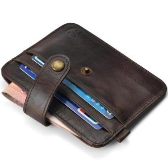 Slim Credit Card Holder Mini Wallet ID Case Purse Bag Pouch Brown -