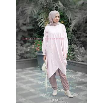 Harga Nabila Tunik Soft Baby Pink by Oriana Boutique