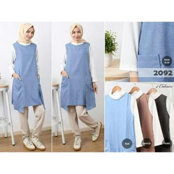 Harga Blouse - Atasan Wanita - Fashionable - ZO Pocket Tunic Denim