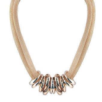 Ofashion Aksesoris Kalung XX-CA-1702K014 Modern Necklace Accessories Panjang 57 Cm - Emas