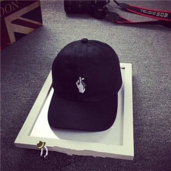 Harga HengSong jari pria wanita hati topi bisbol adapula yang dapat kolam olahraga topi hitam -