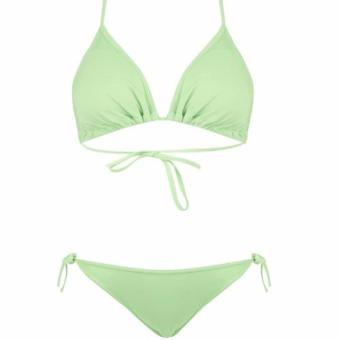 Harga Forever Summer - Triangle Top And String Bottoms Bikini 2pcs Set