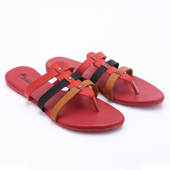 Harga Dr. Kevin Women Flat Sandals 27288 Red