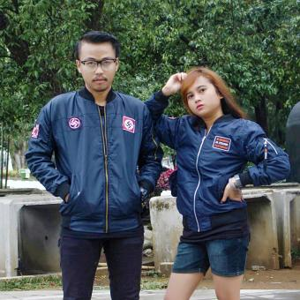 Harga Raja Clothing Jaket Bomber Couple Navy