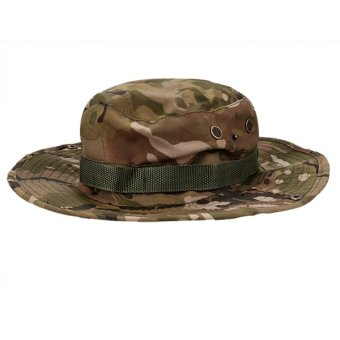Harga Cyber Fishing Hiking Boonie Snap Brim Bucket Sun Hat Cap Camo New