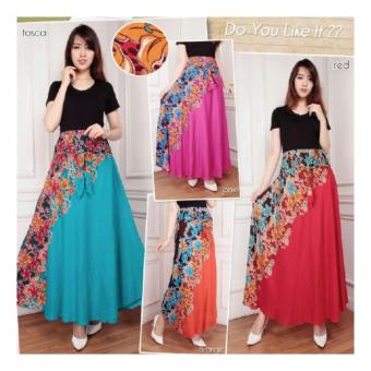Sb Collection Rok Maxi Lupita Long Skirt-Orange