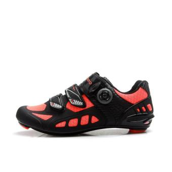 Harga Tiebao R1502D Outdoor Athletic Racing Road Cycling Shoes, Carbon Fiber Outsole Bike Shoes, SPD-SL/LOOK-KEO Cleated Bicycle Shoes - intl
