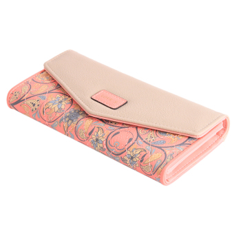 Harga Yingwei Lady Leather Wallet Pink