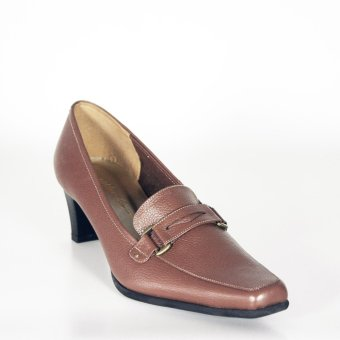 Harga Brown Heels Genuine Leather