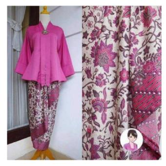 Harga 168 Collection Stelan Atasan Blouse Moniq Abaya Dan Rok Lilit Batik-Fanta