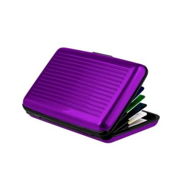 Harga Aluminum Credit Cards Storage Holder RFID Blocking Card Protector Case Anti Degaussing Wallet- purple - intl