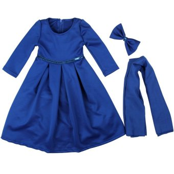 Harga Rorychen Islamic Muslim Abaya with Hijab & Headwear for Girls (Dark Blue)