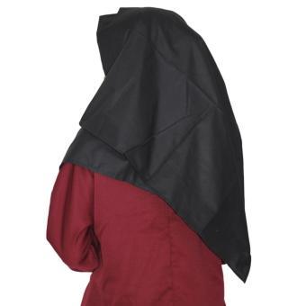 Parisku hijab pashmina instant katun premium amira black new - 3 .