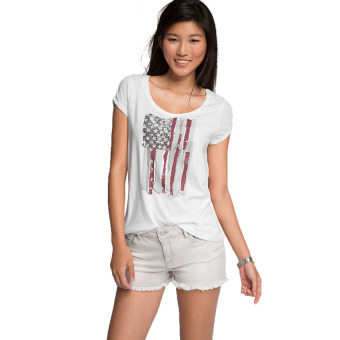 Harga Esprit Cut-Out Sleeve T-Shirt - White