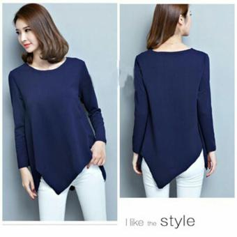 Harga MJ Blouse Shiren - Navy