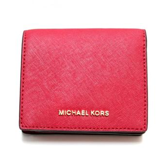 Harga Michael Kors Jet Set Travel Saffiano Leather Card Holder (Cherry)