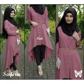 Harga Hasanah Fashion Safira Tunic - Pink