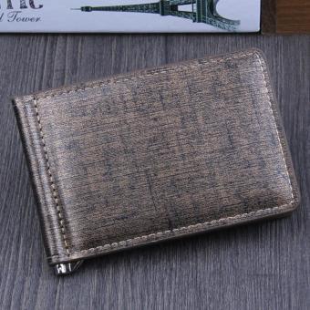 Men Bifold Business Leather Wallet ID Credit Card Holder Purse Pockets Gold - intl ...