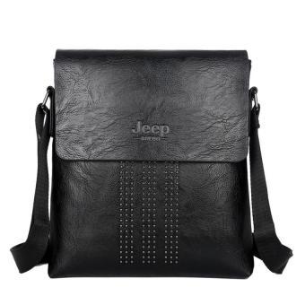 Gambar Produk Male Bag Shoulder Bag Men Shaft Aslant Package Crossbody Bag Cowhide Leather Tote Bag Leisure Small Bag Business Clamshell Packages ( Khaki) ...