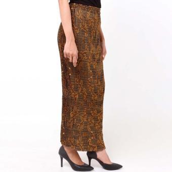 ... Batik Distro R1203 Rok Wanita Lipit Jarik Panjang Coklat