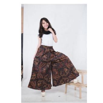 ... SB Collection Celana Panjang Rok Kulot Jumbo Syifa Batik Coklat