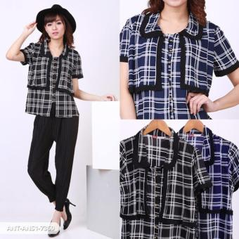 Harga Kienanti Square Layer Shirt - Black