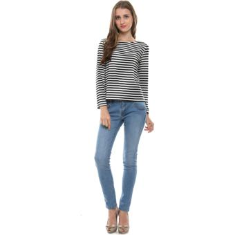 Harga CubeInd Long Sleeve Striped Tee