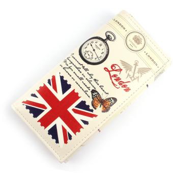 British Flag Pattern Women Long Purse Clutch Wallet Bag Card Holder