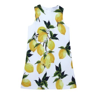 Harga Girls Lemon Printing Dress