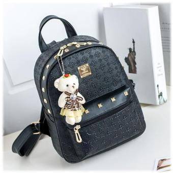 Tas Backpack Fashion High Quality Korean Style 4in1 Black 5 .