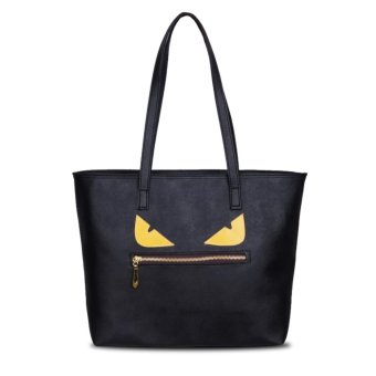 Harga QuincyLabel Tote Monster - Black