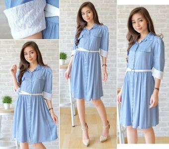 Harga Ayako Fashion Dress Arina - REI (Biru)