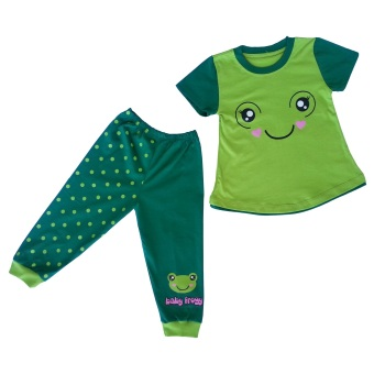 Himawari Dessan Face Animal Frog Long Pants - Hijau - 2