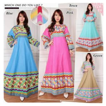 168 Collection Maxi Dress Cecilia Gamis-Cream ...