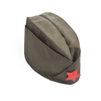 Harga Russian Army Cap Tricorne Green Camo Badge Women Sailor Military Stage Performance Dance Hats Chinese Boat Cap - intl