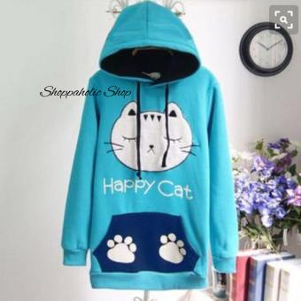 Harga Shoppaholic Shop Sweater Happy Cat - Biru