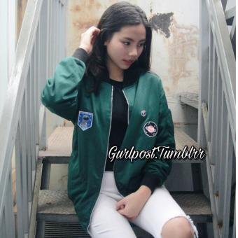 Navy Patch Bomber Lotto WIKIHARGA Source Emerlad patch bomber lotto 2 . 304967496d