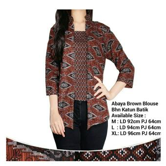 Harga SB Collection Atasan Abaya Brown Blouse Batik-Coklat