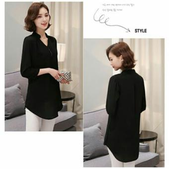 Harga MJ Blouse Delly - Black